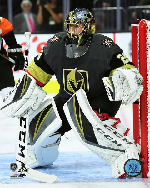 "Marc-Andre Fleury in Net Vegas Golden Knights NHL Hockey 8"" x 10"" Photo"
