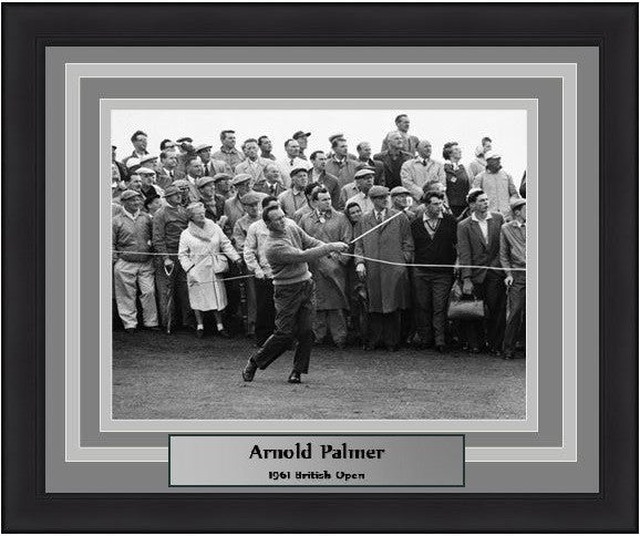 Arnold Palmer 1961 British Open Framed & Matted Photo - Dynasty Sports & Framing