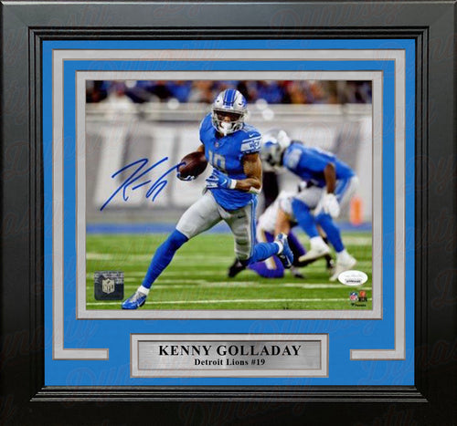 "Kenny Golladay in Action Detroit Lions Autographed 8"" x 10"" Framed Football Photo - Dynasty Sports & Framing"