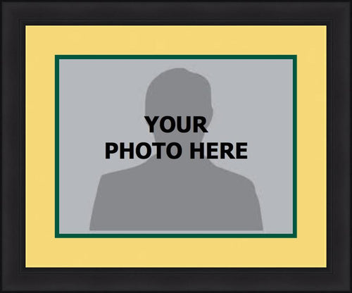 MLB Baseball Photo Picture Frame Kit - Oakland Athletics (Yellow Matting, Green Trim) - Dynasty Sports & Framing