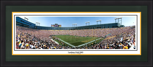 Green Bay Packers Lambeau Field 2003 Framed and Matted Stadium Panorama - Dynasty Sports & Framing