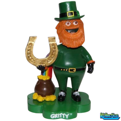 Philadelphia Flyers Gritty Mascot ST Patrick's Day Bobblehead - Dynasty Sports & Framing
