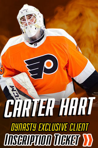 Carter Hart Philadelphia Flyers Inscription Ticket