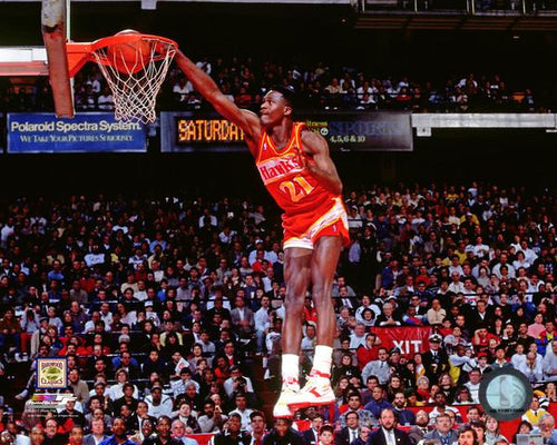 "Dominique Wilkins Slam Dunk Atlanta Hawks 8"" x 10"" Basketball Photo - Dynasty Sports & Framing"