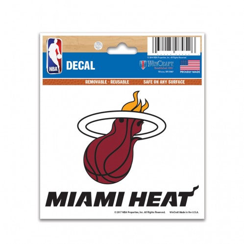 "Miami Heat NBA Basketball 3"" x 4"" Decal - Dynasty Sports & Framing"