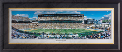 Pittsburgh Steelers Heinz Field Inaugural Game NFL Football Rob Arra Framed and Matted Stadium Panorama
