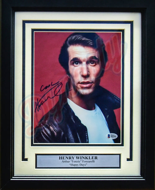 "Henry Winkler Autographed Happy Days 'The Fonz' 8"" x 10"" Framed Photo"