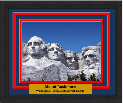 "Mount Rushmore National Memorial 8"" x 10"" Framed and Matted Photo"
