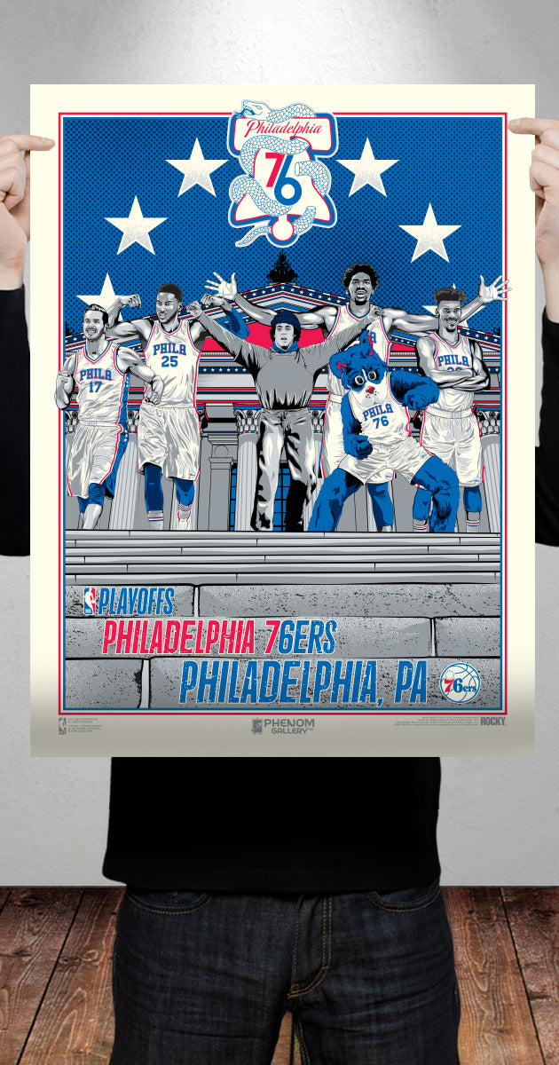Philadelphia 76ers Official 2019 NBA Playoffs Limited Edition Poster