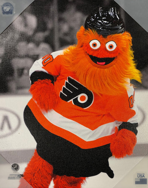 Gritty Philadelphia Flyers NHL Hockey 16x20 Mascot Canvas Print - Dynasty Sports & Framing