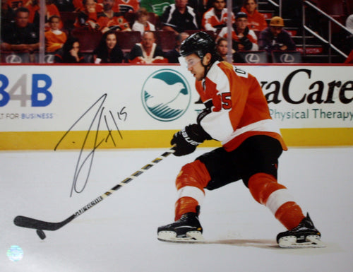 "Philadelphia Flyers Michael Del Zotto Autographed NHL Hockey 16"" x 20"" Photo - Dynasty Sports & Framing"