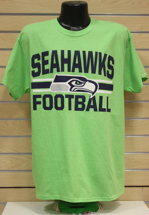 Seattle Seahawks Football NFL Men's Majestic T-Shirt - Green - Dynasty Sports & Framing