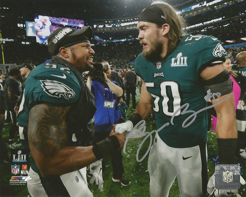 "Bryan Braman Philadelphia Eagles Super Bowl LII Champions Autographed 8"" x 10"" Photo"