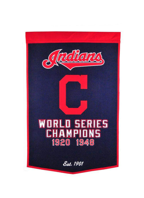 Cleveland Indians MLB Dynasty Banner - Dynasty Sports & Framing