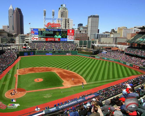 "Cleveland Indians Progressive Field Stadium MLB Baseball 8"" x 10"" Photo - Dynasty Sports & Framing"