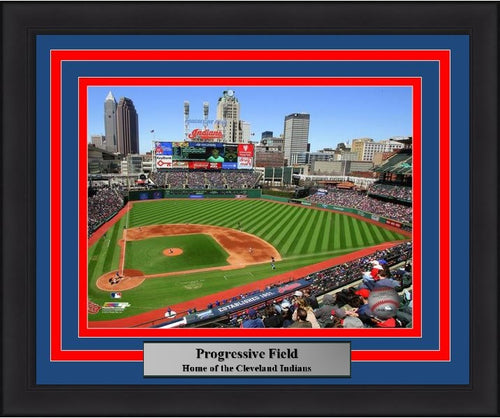 "Cleveland Indians Progressive Field Stadium MLB Baseball 8"" x 10"" Framed and Matted Photo - Dynasty Sports & Framing"