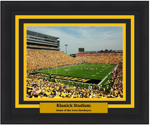 "Iowa Hawkeyes Kinnick Stadium NCAA College Football 8"" x 10"" Framed and Matted Photo - Dynasty Sports & Framing"