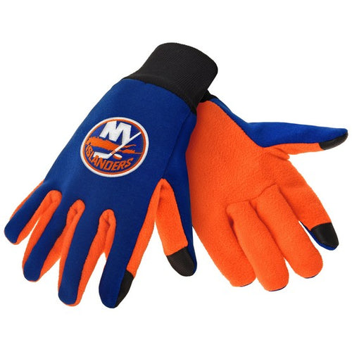 New York Islanders NHL Hockey Texting Gloves - Dynasty Sports & Framing