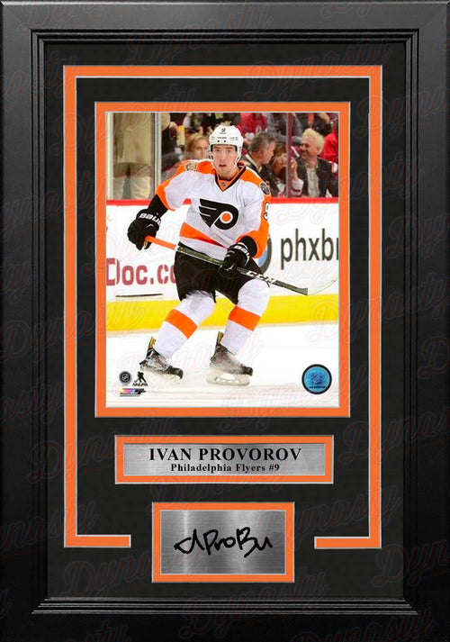 "Ivan Provorov Skating Philadelphia Flyers 11"" x 14"" Framed Hockey Photo with Engraved Autograph - Dynasty Sports & Framing"