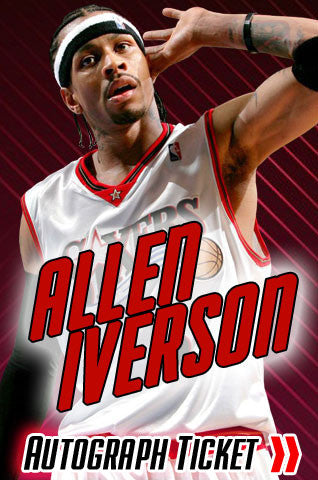 Allen Iverson Philadelphia 76'ers Experience Tickets - Dynasty Sports & Framing