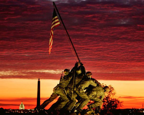 "United States Marine Corps War Memorial (Iwo Jima Memorial) 8"" x 10"" Landmark Photo"