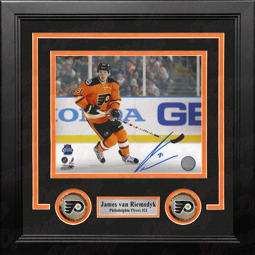 James Van Riemsdyk 2012 Winter Classic Autographed Philadelphia Flyers Framed Hockey Photo - Dynasty Sports & Framing