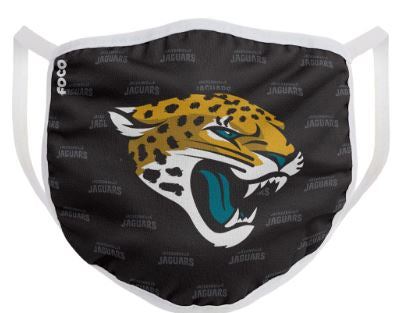 Jacksonville Jaguars Solid Big Logo Face Cover Mask - Dynasty Sports & Framing