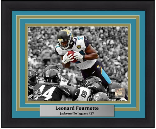 "Jacksonville Jaguars Leonard Fournette Spotlight NFL 8"" x 10"" Framed and Matted Photo"