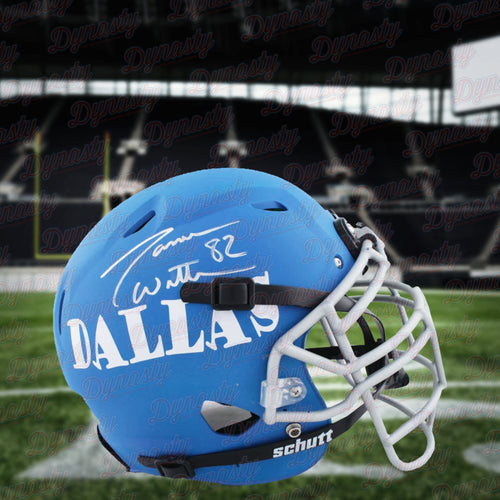 Jason Witten Dallas Cowboys Autographed Full-Size Authentic On-Field Matte Blue Helmet - Dynasty Sports & Framing