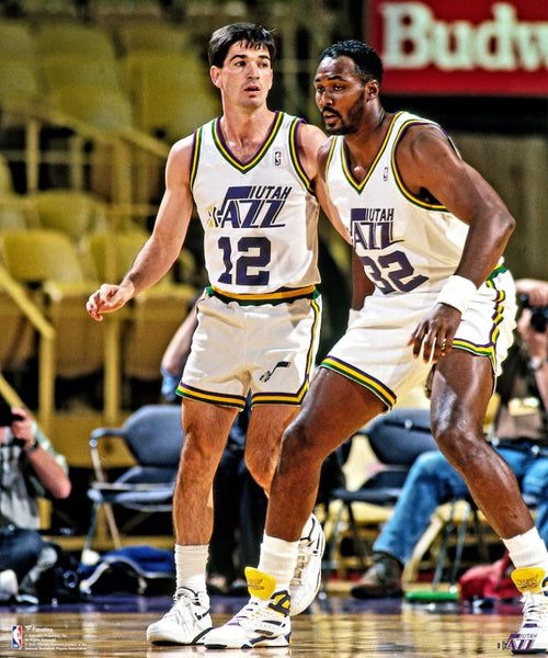"John Stockton & Karl Malone Utah Jazz 8"" x 10"" Basketball Photo - Dynasty Sports & Framing"