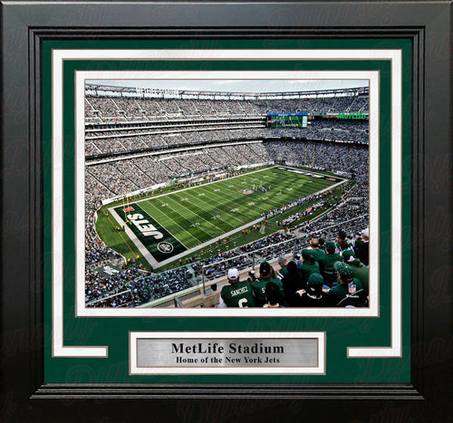 "New York Jets MetLife Stadium Aerial View 8"" x 10"" Framed Football Photo - Dynasty Sports & Framing"
