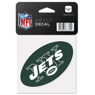 "New York Jets NFL Football 4"" x 4"" Decal - Dynasty Sports & Framing"