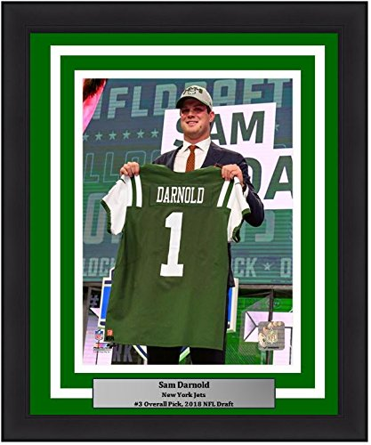 "New York Jets Sam Darnold 2018 Draft NFL Football 8"" x 10"" Framed and Matted Photo"