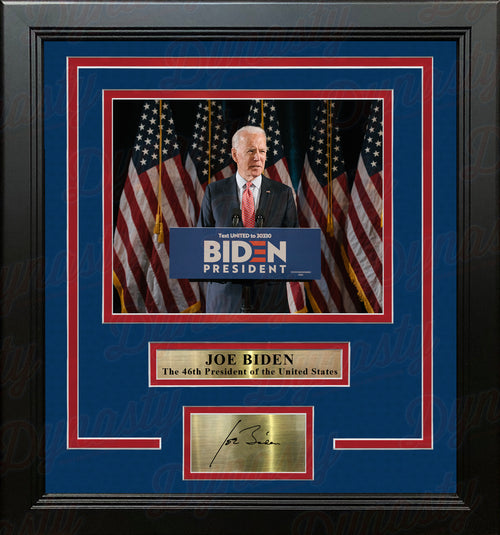 "Joe Biden 46th President of the United States 8"" x 10"" Framed Photo with Engraved Autograph - Dynasty Sports & Framing"