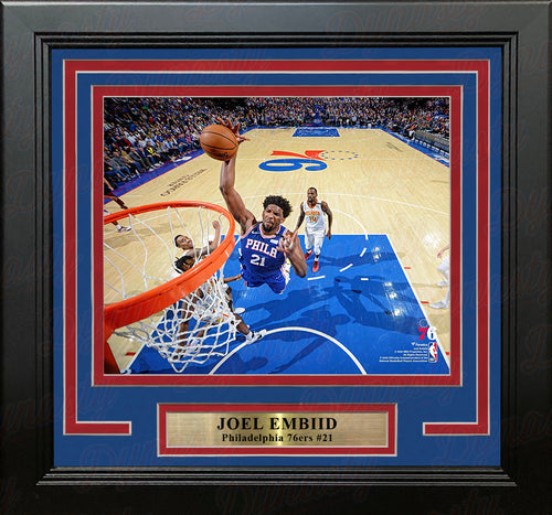 "Joel Embiid Rim-Cam Dunk Philadelphia 76ers 8"" x 10"" Framed Basketball Photo - Dynasty Sports & Framing"
