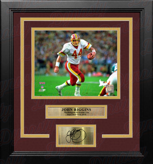 John Riggins Washington Redskins Super Bowl XVII 8x10 Framed Football Photo with Engraved Autograph - Dynasty Sports & Framing