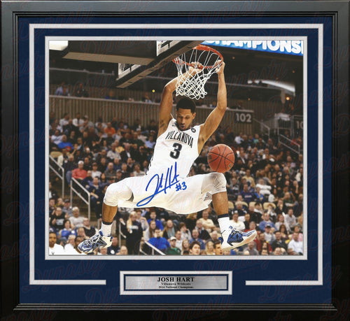 "Josh Hart Slam Dunk Autographed Villanova Wildcats 11"" x 14"" Framed College Basketball Photo - Dynasty Sports & Framing"