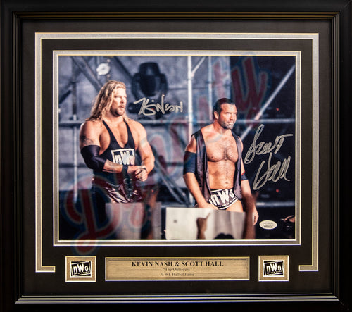 "Kevin Nash & Scott Hall Outsiders WWE Wrestling Autographed 11"" x 14"" Framed and Matted Photo"