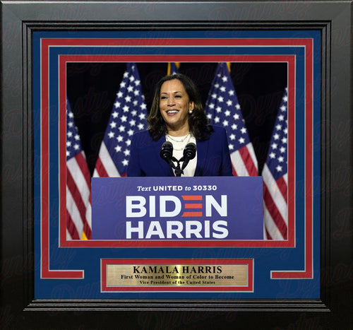 "Kamala Harris First Woman of Color As Vice President 8"" x 10"" Framed Photo - Dynasty Sports & Framing"