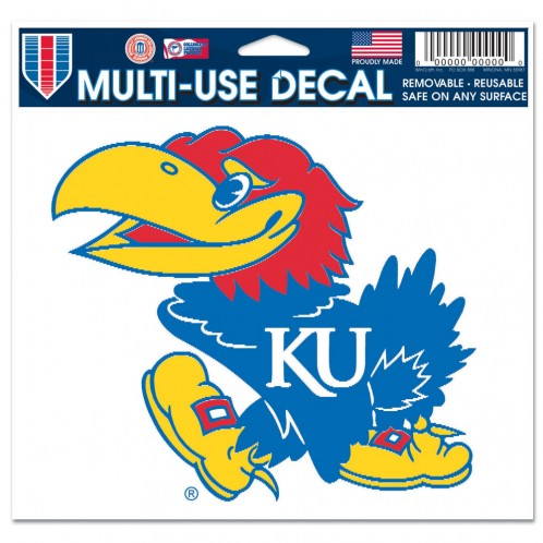 "Kansas Jayhawks NCAA College 3"" x 4"" Decal - Dynasty Sports & Framing"
