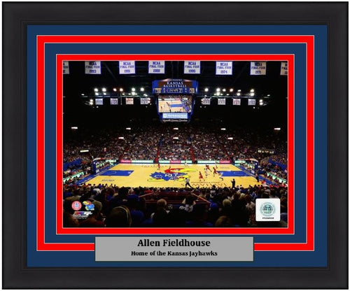 "Kansas Jayhawks Allen Fieldhouse NCAA College Basketball Stadium 8"" x 10"" Framed and Matted Photo"