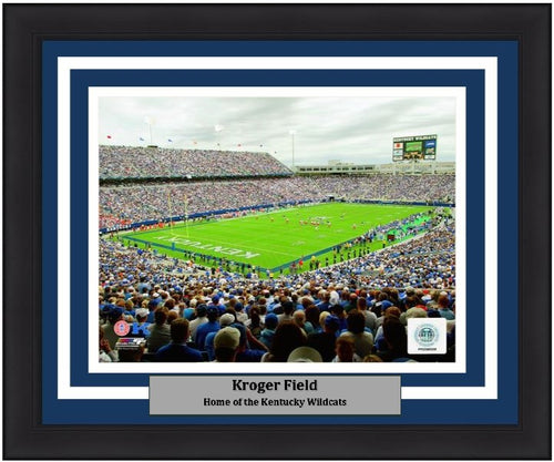 "Kentucky Wildcats Kroger Field NCAA College Football Stadium 8"" x 10"" Framed and Matted Photo - Dynasty Sports & Framing"
