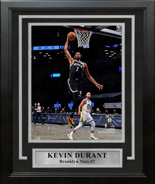 "Kevin Durant in Action Brooklyn Nets 8"" x 10"" Framed Basketball Photo - Dynasty Sports & Framing"
