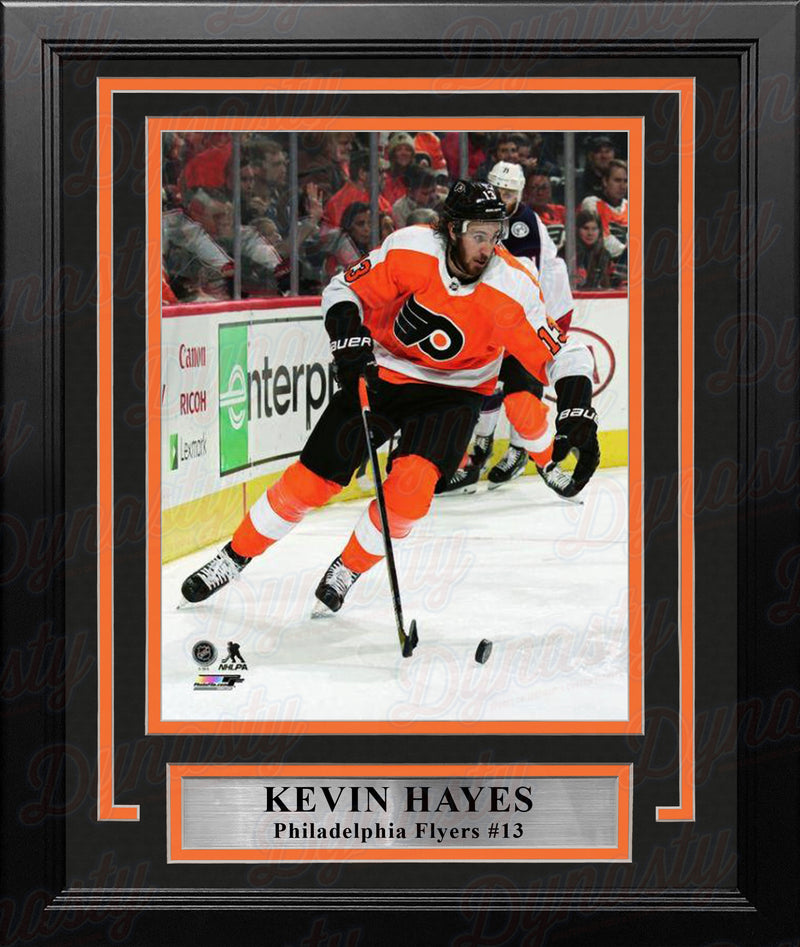 "Kevin Hayes in Action Philadelphia Flyers 8"" x 10"" Framed Hockey Photo - Dynasty Sports & Framing"