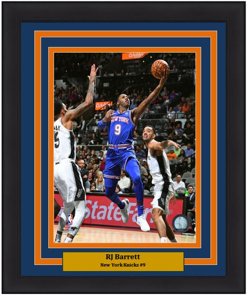 "RJ Barrett in Action New York Knicks NBA Basketball 8"" x 10"" Framed Photo - Dynasty Sports & Framing"