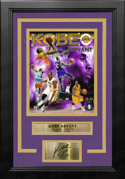 "Kobe Bryant Los Angeles Lakers #8 Collage 8"" x 10"" Framed Basketball Photo with Engraved Autograph - Dynasty Sports & Framing"