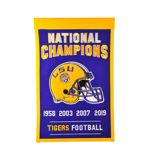 "LSU 2019 National Championship NCAA 14"" x 22"" Banner - Dynasty Sports & Framing"
