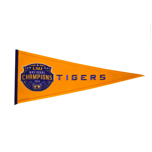 LSU 2019 National Championship NCAA Wool Pennant - Dynasty Sports & Framing