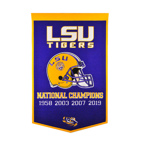 LSU NCAA Football Dynasty Banner - Dynasty Sports & Framing