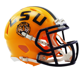 LSU NCAA College Riddell Speed Mini-Helmet - Dynasty Sports & Framing